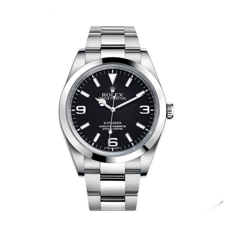 瑞士 劳力士(Rolex) 探险家型系列  男士 机械表 214270-77200黑色3,6,9夜光阿拉伯字
