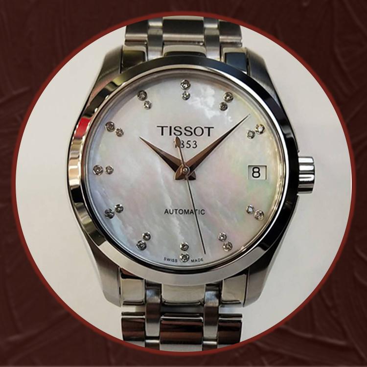 瑞士 天梭(Tissot) 库图系列女士机械表T035.207.11.116.00