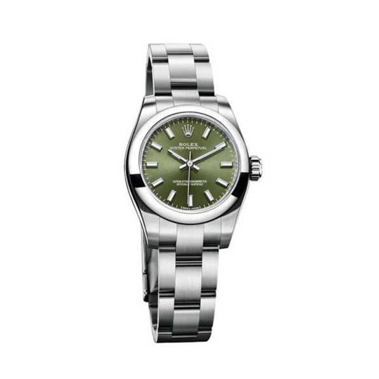 瑞士 劳力士(Rolex) 蚝式恒动型系列  女士 机械表 176200-70130绿色条字