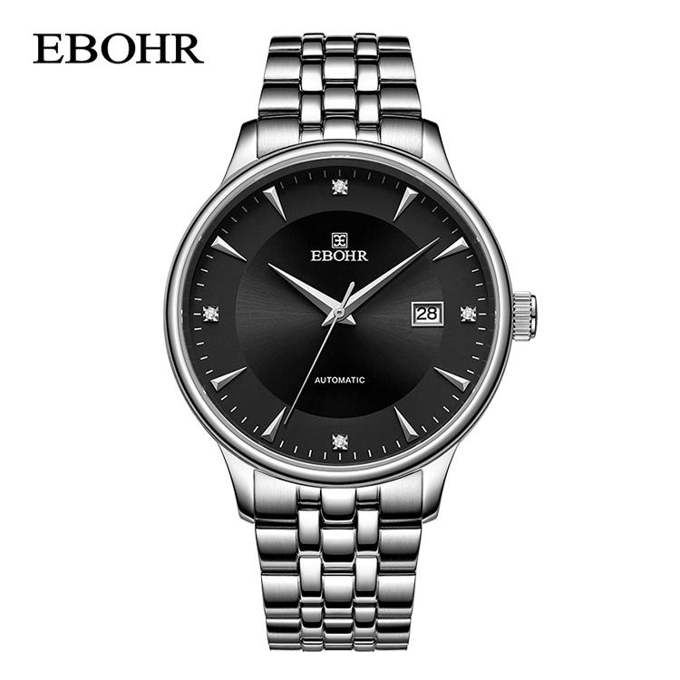 依波表(EBOHR) 黑色全自动机械男表情侣表 36480111