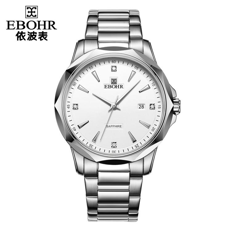 中国 依波表(EBOHR)商务经典 男士 钨钢表圈镶锆石英51180119