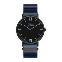 唯路时牛皮带男表时尚简约手表防水蓝色石英潮流手表Y01646-Q3.BBBLL