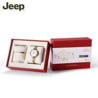 中国 JEEP SPIRIT森系列女士精致石英腕表与手链套装  玫瑰金