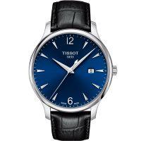 Tissot天梭瑞士正品俊雅简约百搭皮带石英手表男表T063.610.16.047.00