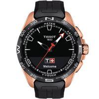 Tissot天梭瑞士官方正品腾智无界系列橡胶带石英表T121.420.47.051.02