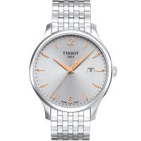 Tissot天梭瑞士官方正品俊雅时尚大表盘钢带石英手表男表T063.610.11.037.01