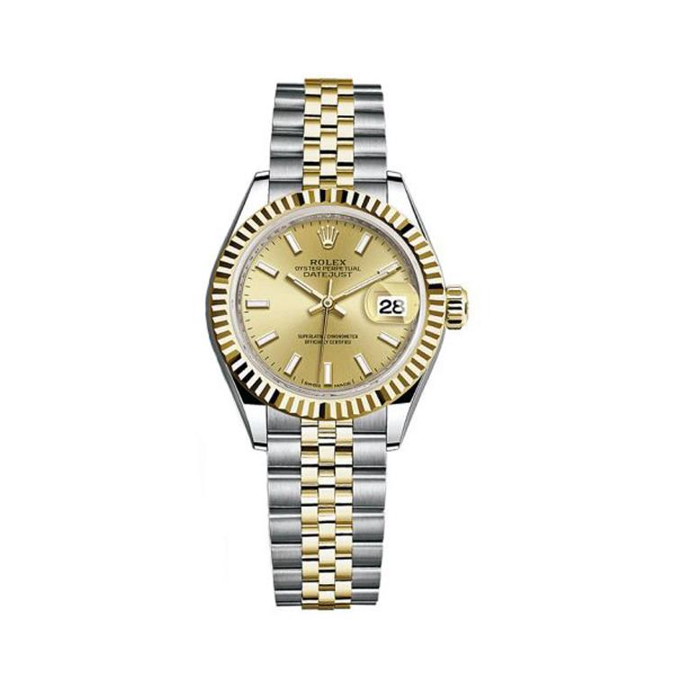 瑞士 劳力士(Rolex) 女装日志型系列  女士 机械表 279173-63343香槟金色钻石字