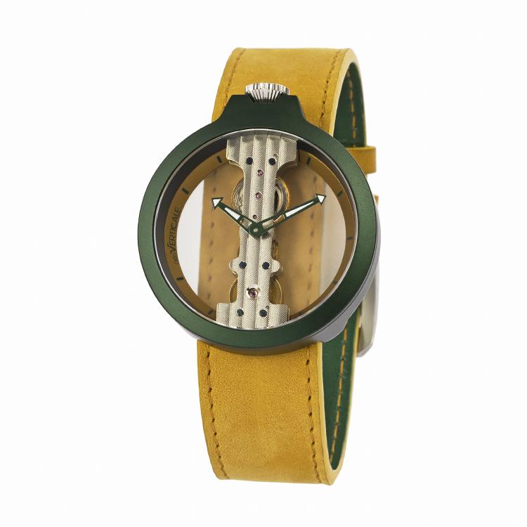 意大利attoVERTICALE起源系列男士女士时尚潮流正品机械V手表YGL6009