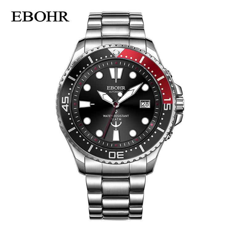 依波表(EBOHR)探索者系列黑盘潜水表自动机械表 51330118