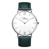 唯路时牛皮带男表时尚简约手表防水深绿色色石英潮流手表Y01646-Q3.WWWLN