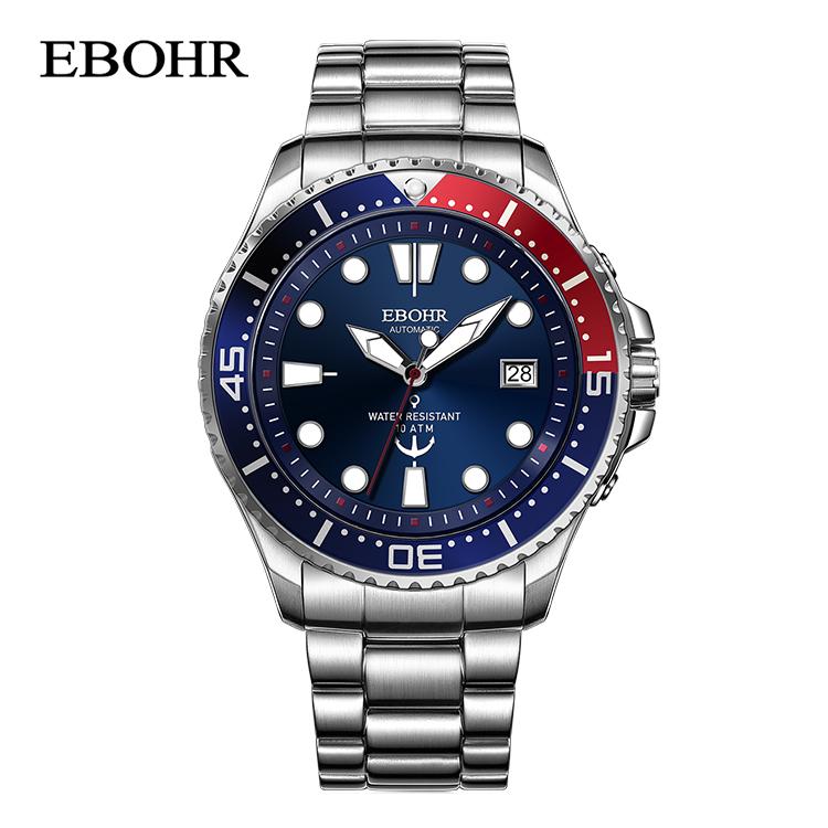 依波表(EBOHR)探索者系列蓝盘潜水表自动机械表 51330217