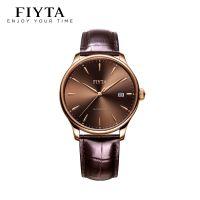 飞亚达(FIYTA)手表 琅轩系列自动机械钟表商务休闲男表棕色皮带DGA802063.PKK