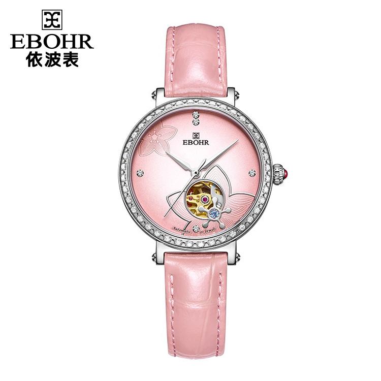 中国 依波表(EBOHR)桃花镂空透视 女士  全自动机械表  50910540