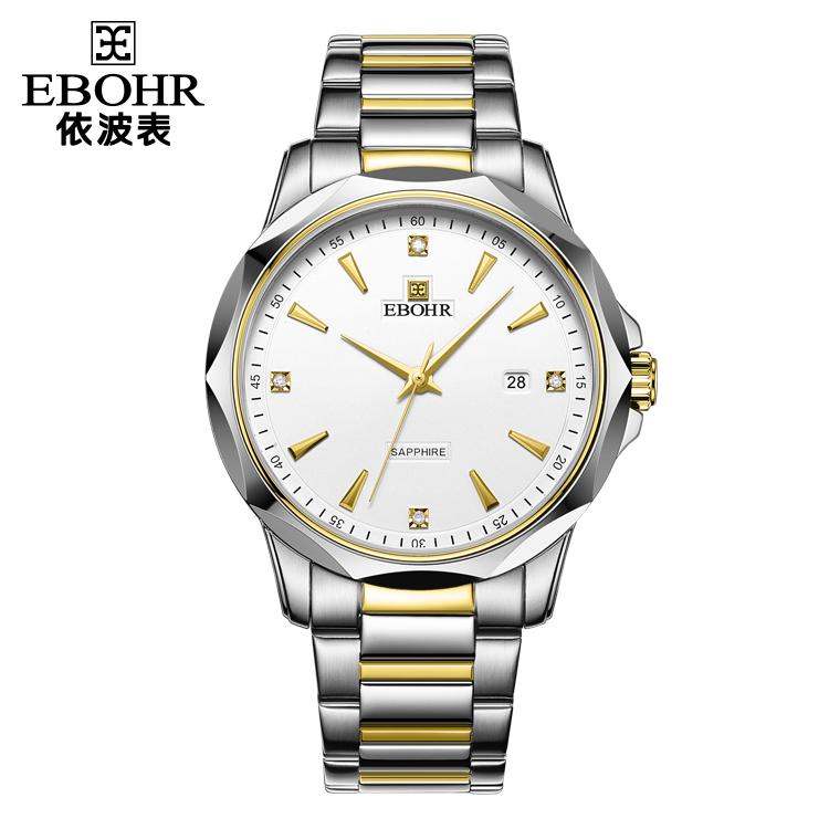 中国 依波表(EBOHR)商务经典 男士 钨钢表圈镶锆石英51180317