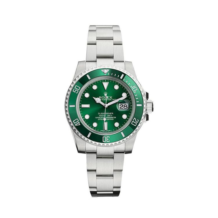 瑞士 劳力士(Rolex) 潜航者型系列  男士 机械表 116610LV-97200绿色点字