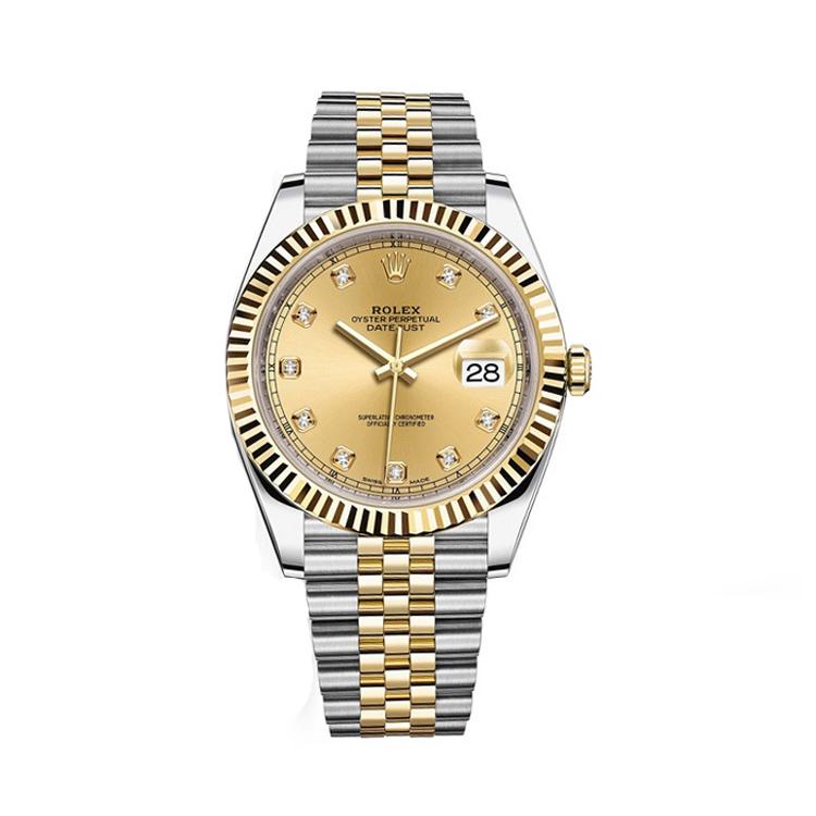 瑞士 劳力士(Rolex) 日志型系列  男士 机械表 126333-62613香槟金色钻石字